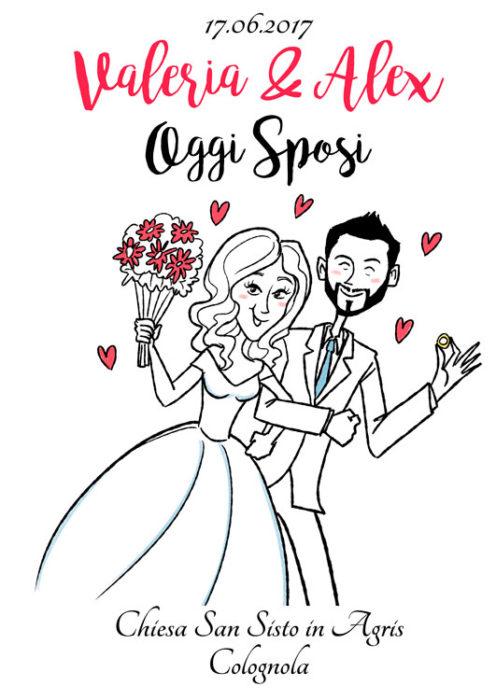 Famoso Caricature per Papiri Laurea e caricature Sposi, Idee regalo GI85