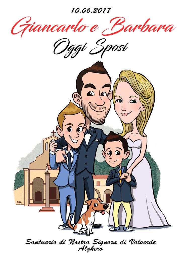 Favoloso Caricature per Papiri Laurea e caricature Sposi, Idee regalo UX71