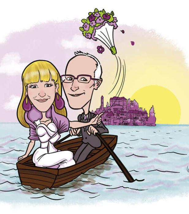 illustrazione per anniversario di nozze
