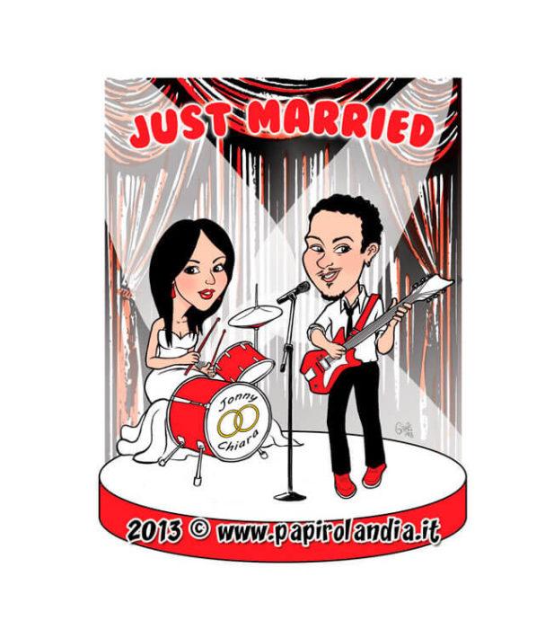caricatura per tableau de marriage