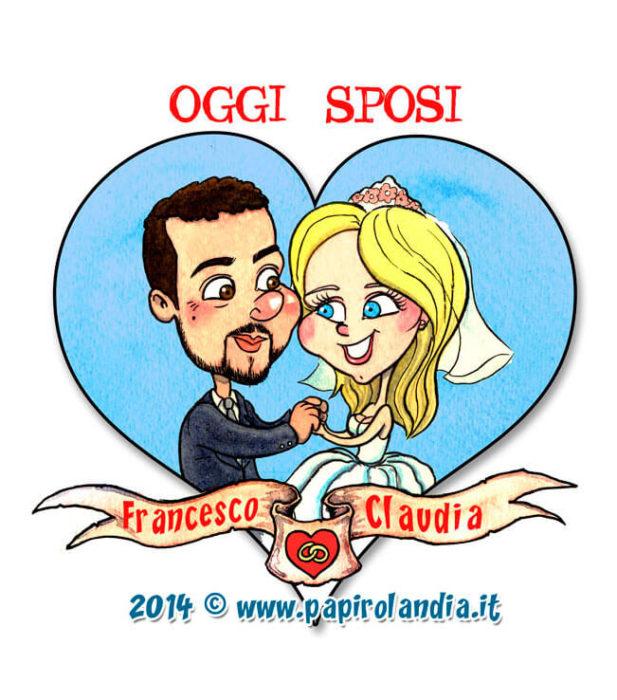8872632cb057 Caricature Sposi  idee originali per matrimoni e anniversari ...