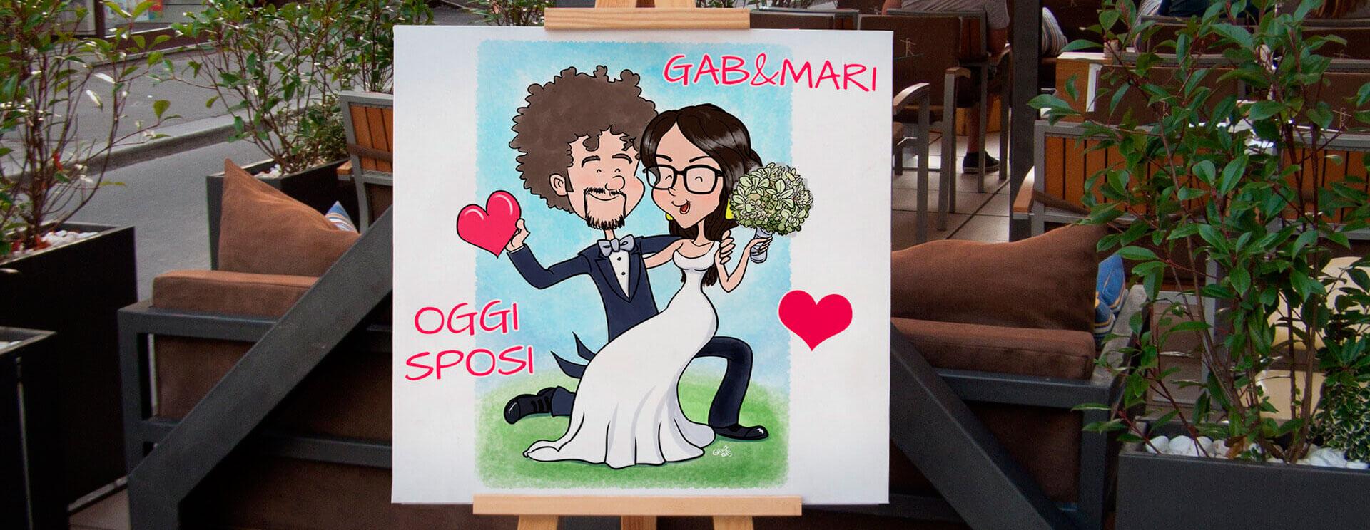caricatura tableau de marriage