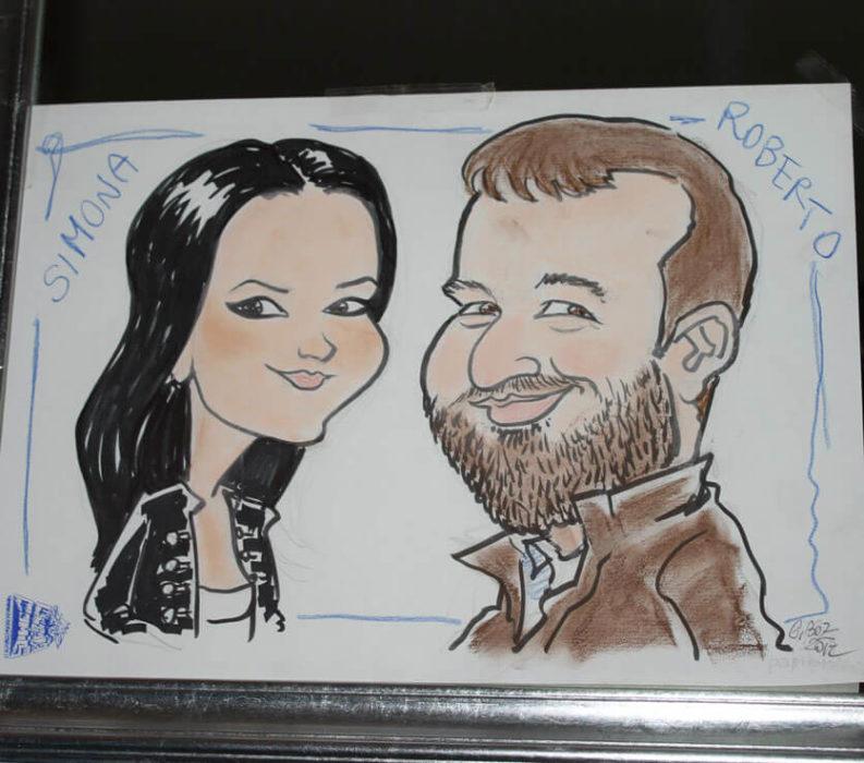 caricaturista matrimoni padova